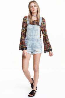 Salopette short en jean – H&M 59,90chf