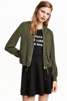 Bomber satiné – H&M 49,90chf