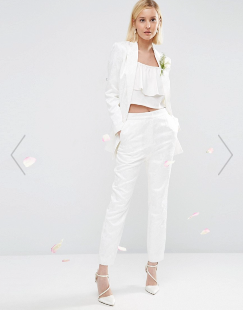 Bridal Jacquard trousers, Asos, 84,02.-